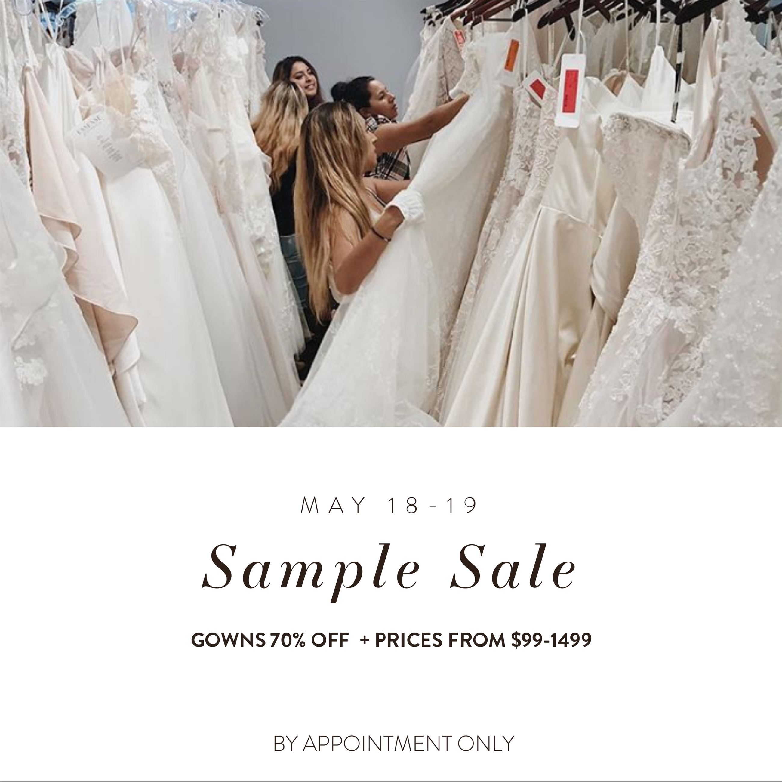 May Sample Sale