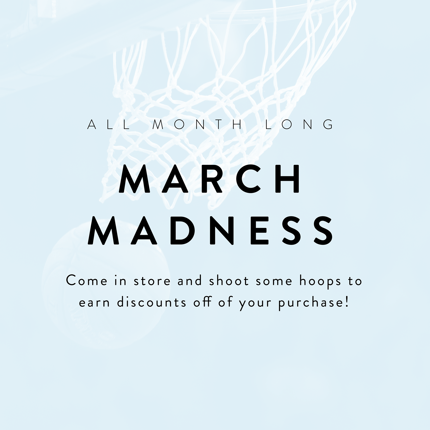March Madness Sale Event